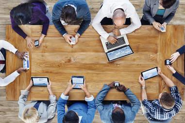 people using technology