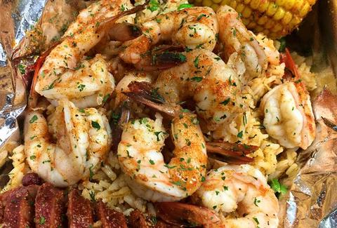 lobster with shrimp and corn on the cob