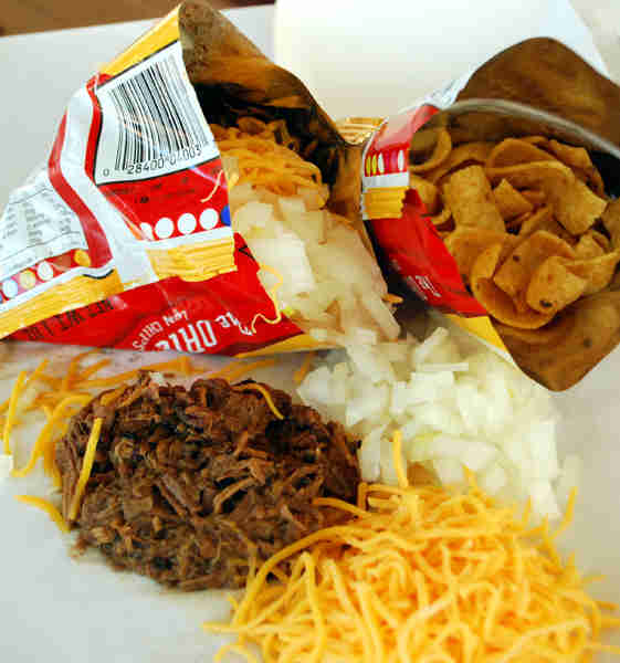 Frito pie in the bag Dallas