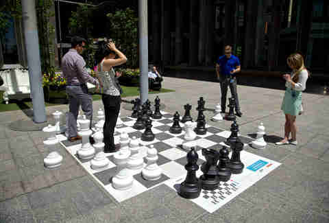 Giant chess game