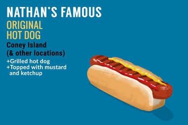 Nathan's Famous hot dog illustration