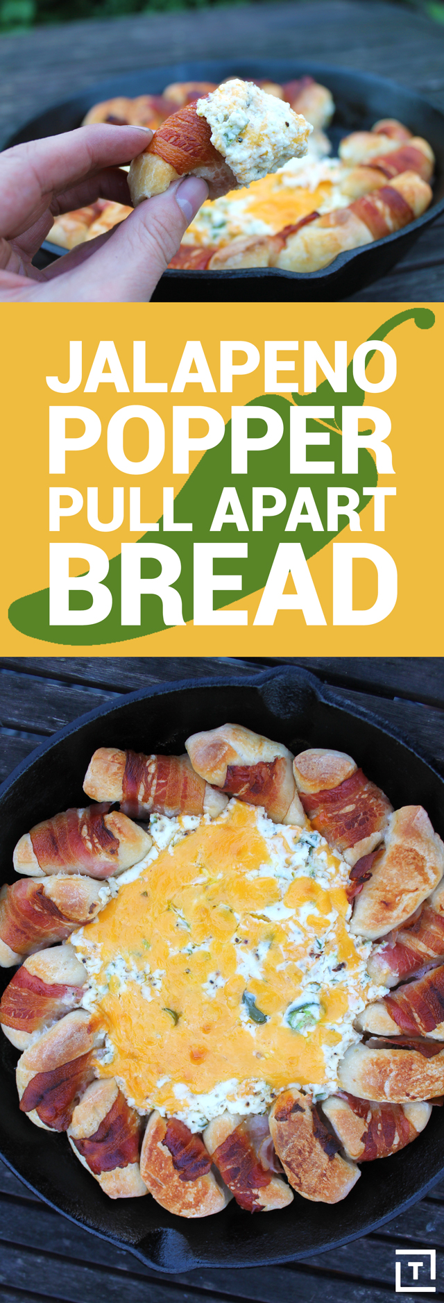 how to make jalapeño popper pull apart bread recipe thrillist