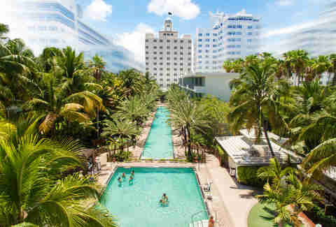 pool at The National Hotel in Miami Beach, Florida