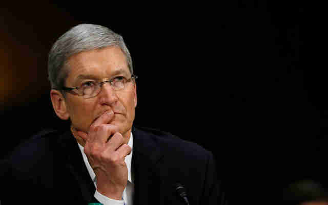 Tim cook looking pensive
