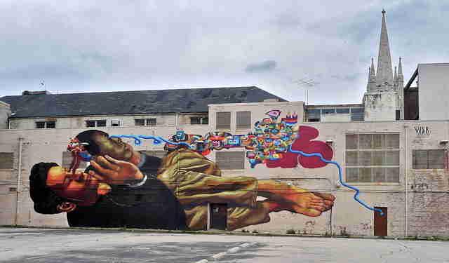 Street art best american cities for graffiti mural art for Baltimore mural program