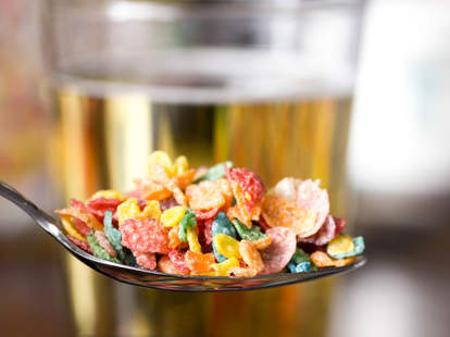 Fruity Pebbles and Beer For Breakfast