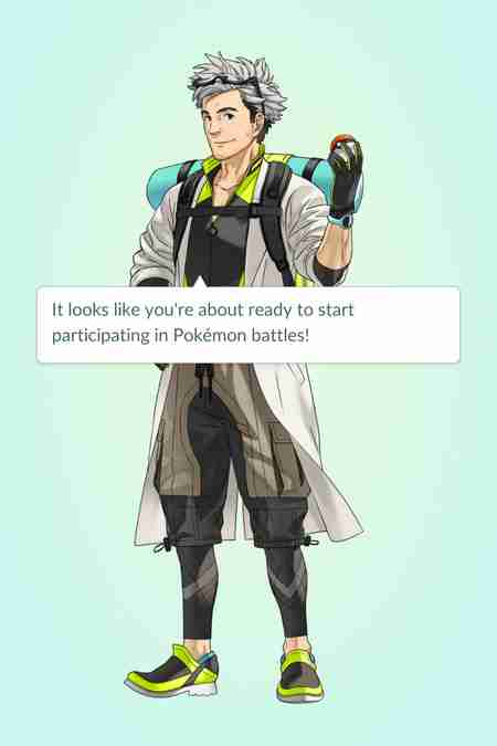 Professor Willow in Pokemon Go