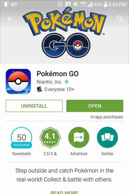 Play Store Pokemon