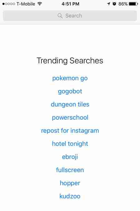 Pokemon Trending Search