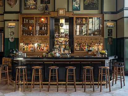 The Lobby Bar of the Ace Hotel New Orleans