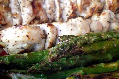 grilled chicken and asparagus