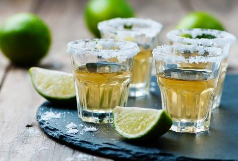 Tequila shots at Three Amigos