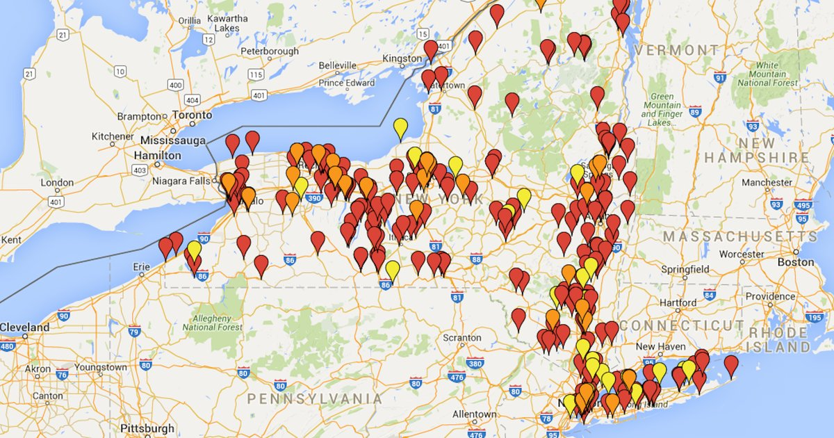 Beer Map of Every Brewery  Brewpub in New York State  Thrillist