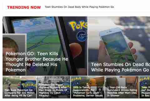 pokemon go hoax stories