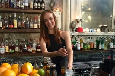 Anne Vaughan bartender Whisler's Austin