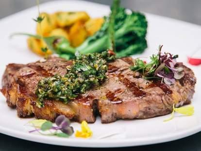 steak at Charivari