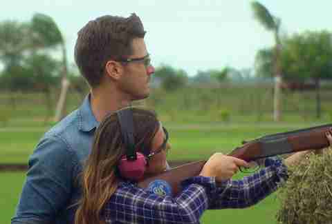 luke shooting skeet bachelorette