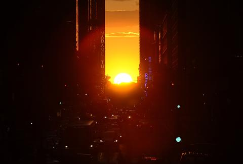 Manhattanhenge 42nd Street