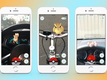 Pokemon Go in bikes and cars