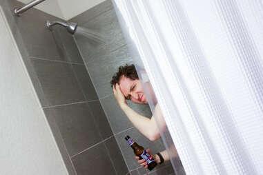 guy in shower