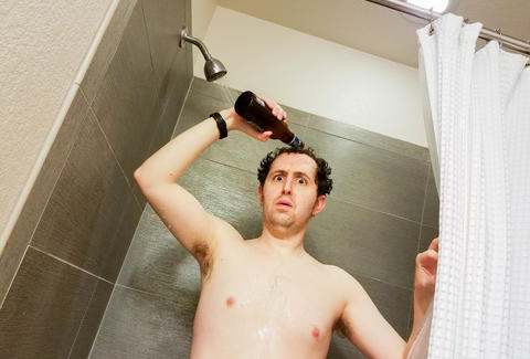 guy in shower
