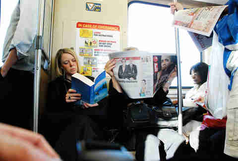 CTA people reading