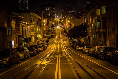 Old style orange lights in San Francisco