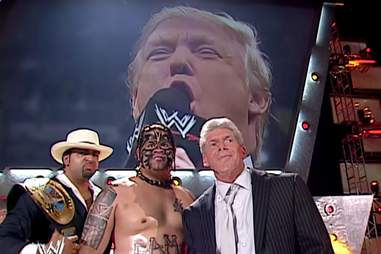 Trump on Raw vs Vince McMahon