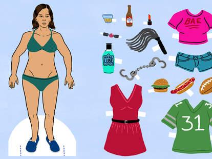 Cool girl illustration