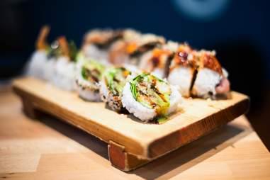 Sushi in restaurants