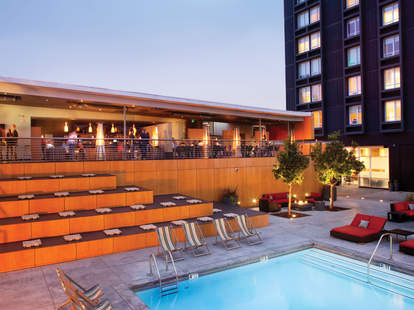 Poolside dining at Deck33 in LA