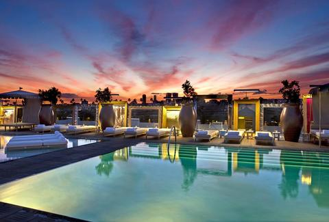 Altitude Pool and Lounge at the SLS Beverly Hills