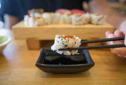 Sushi in restaurants