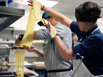 fresh pasta demo with chef john tesar