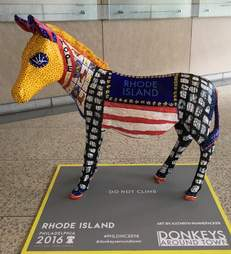 Donkey statue in Philadelphia for Democratic National Convention