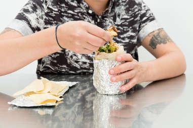 chips in a burrito