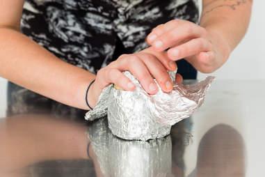 rewrapping burrito