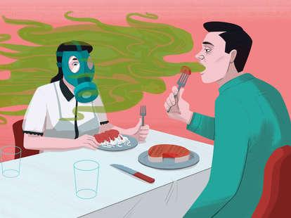 bad breath dinner smell
