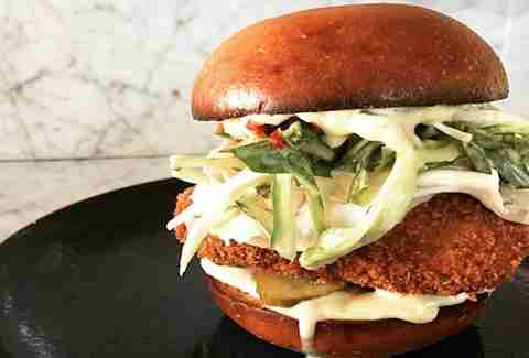 Alimento fried chicken sandwich Los Angeles