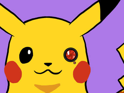 pikachu with a camera eye