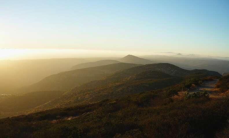 Cowles Mountain sunset San Diego