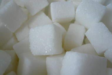 sugar cubes in a pile
