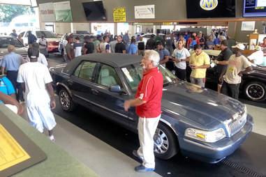 An auto auction in Atlanta, GA