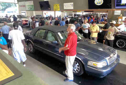 An auto auction in Atlanta, GA