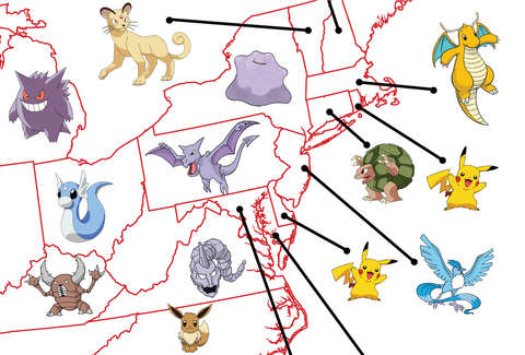 Rarest Pokemon By State Google Search Shows Hardest To Find Thrillist