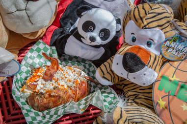 OC Fair, Fair Food, Bacon-covered baked potato