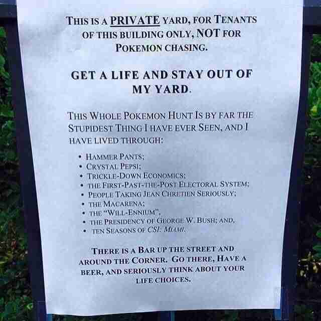 Angry Pokemon Go Note