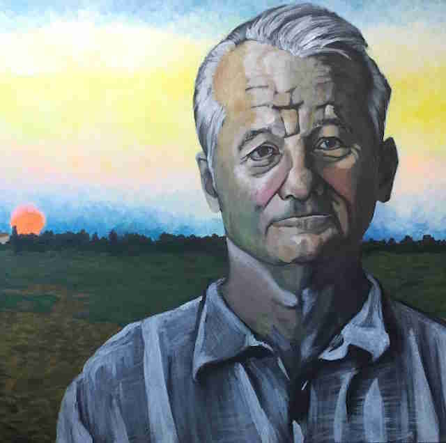 bill murray painting