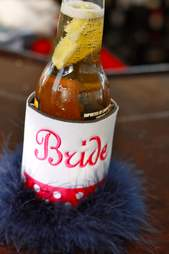 bride bottle koozy