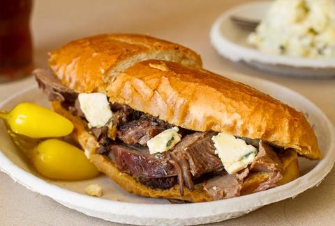 philippe the original roast beef french dip sandwich